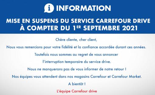CARREFOUR DRIVE INFORMATION CLIENTS