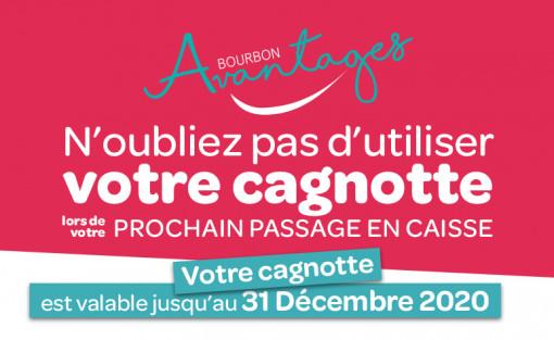 VOTRE CAGNOTTE BOURBON AVANTAGES